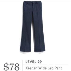 Level 99 Keanan wide leg pants navy size 31 =12